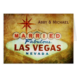 Married in Fabulous LAS VEGAS Card