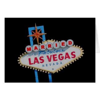 MARRIED In Fabulous Las Vegas Card