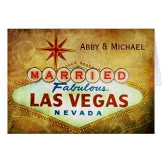 Married in Fabulous LAS VEGAS Greeting Card