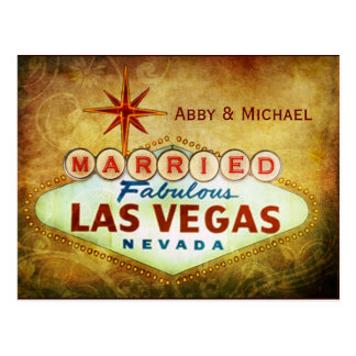Married in Fabulous LAS VEGAS Postcard