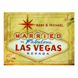 Married in Fabulous Las Vegas - Vintage Postcard