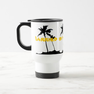 Married in Hawaii Palm Trees Travel Mug