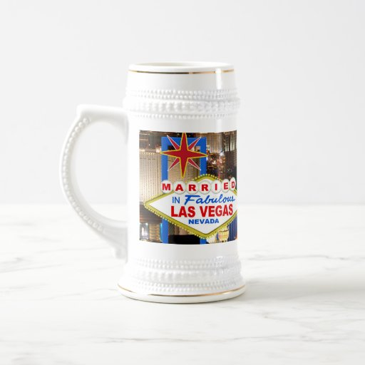 Married In LAS VEGAS Beer Stein Coffee Mugs
