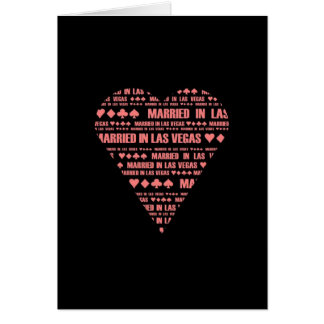 Married in Las Vegas Black/Red Card