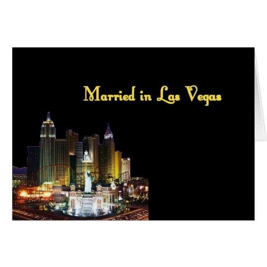 Married in Las Vegas Card