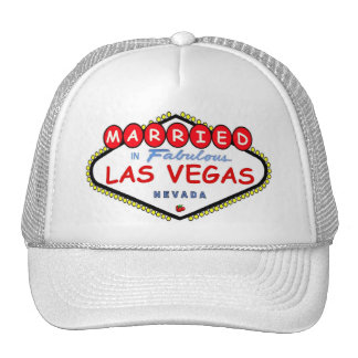 MARRIED In  Las Vegas Cherry logo cap Trucker Hat