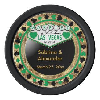 Married in Las Vegas | Green Poker Chip Set