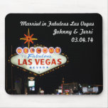 Married in Las Vegas Personalized Mousepad!