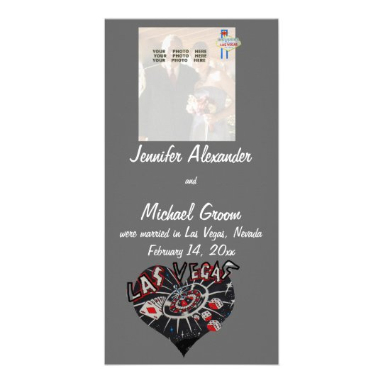 Married in Las Vegas Photo Announcement Card