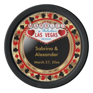 Married in Las Vegas Set Of Poker Chips