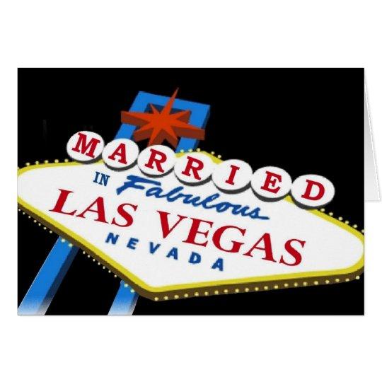 Married in Las Vegas Sign Card