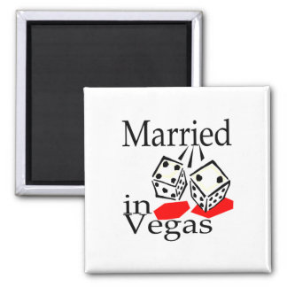 Married in Las Vegas Square Magnet