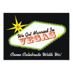 Married in Las Vegas Wedding Party Invitation