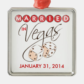Married in Vegas Dice Keepsake Ornament