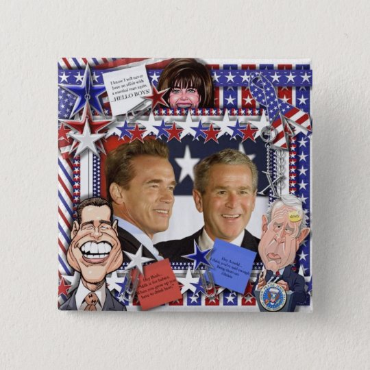 Married Men and Monica Lewinsky 15 Cm Square Badge