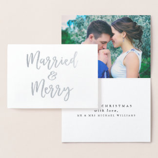 Married & Merry Christmas Foil Card
