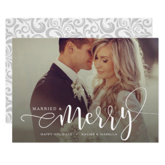 Married & Merry Holiday Photo Card