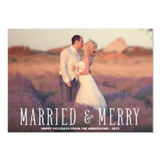 MARRIED & MERRY | HOLIDAY PHOTO CARD 13 CM X 18 CM INVITATION CARD