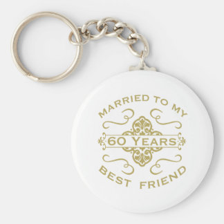 Married My Best Friend 60th Key Ring