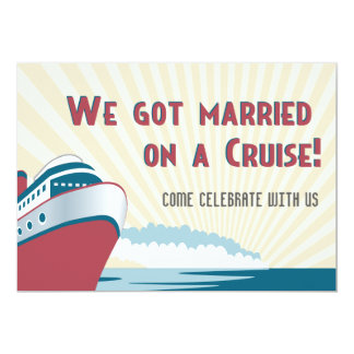 Married on a Cruise Wedding Party Invitation