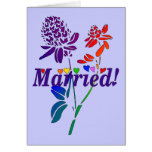 Married Rainbow Flowers Cards