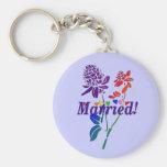 Married Rainbow Flowers Keychain
