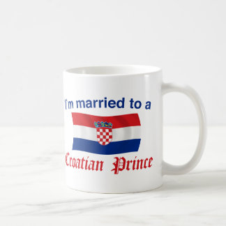 Married to a Croatian Prince Basic White Mug