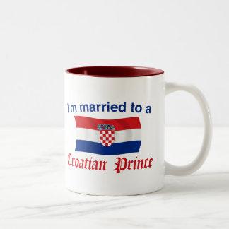 Married to a Croatian Prince Two-Tone Mug
