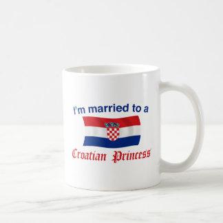 Married to a Croatian Princess Basic White Mug