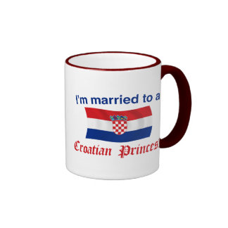 Married to a Croatian Princess Ringer Mug