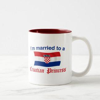 Married to a Croatian Princess Two-Tone Mug