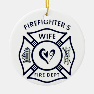 Married to a hero christmas ornament