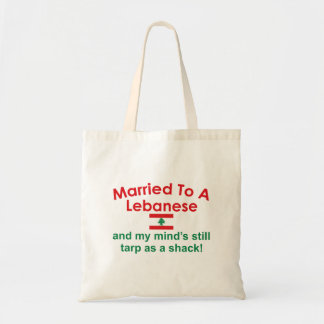 Married to a Lebanese Tote Bags