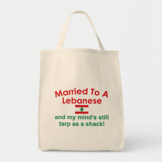 Married to a Lebanese Canvas Bag