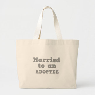 MARRIED TO AN ADOPTEE CANVAS BAGS