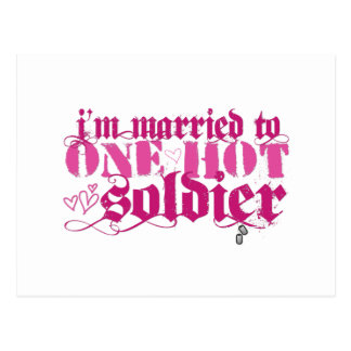 Married to one hot... postcard