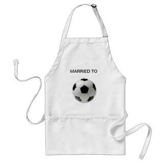 MARRIED TO SOCCER STANDARD APRON