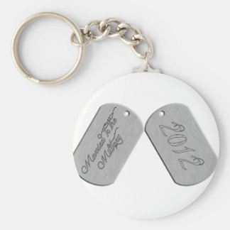 Married to the Military 2012 Basic Round Button Key Ring