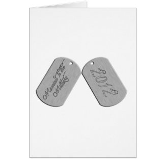 Married to the Military 2012 Greeting Card