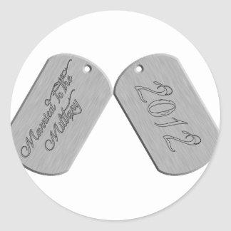 Married to the Military 2012 Round Sticker