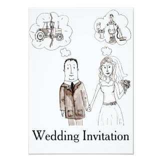 Marry A Farmer Wedding Invitation