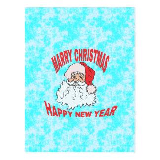 marry christmast postcard