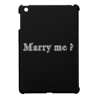 Marry me Hard shell iPad Mini Case