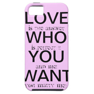 marry ME iPhone 5 Cases