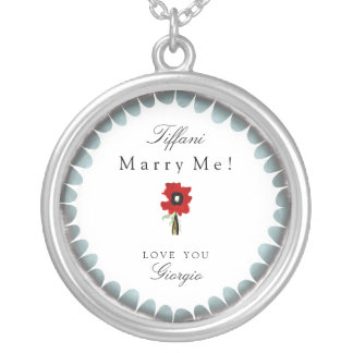 Marry me Love you customisable romantic jewellery Necklaces