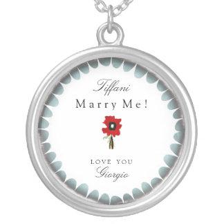Marry me Love you customizable romantic jewelry