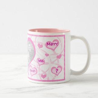 Marry Me Proposal Custom Photo & Text Mug