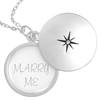 MARRY ME - Silver plated locket