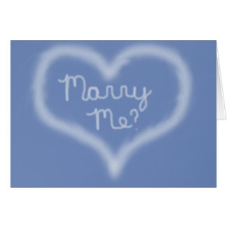 Marry Me Skywriting Card