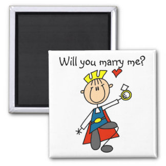 Marry Me Wedding Proposal Tshirts and Gifts Square Magnet
